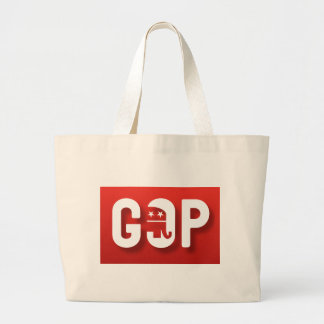Red Elephant GOP Large Tote Bag