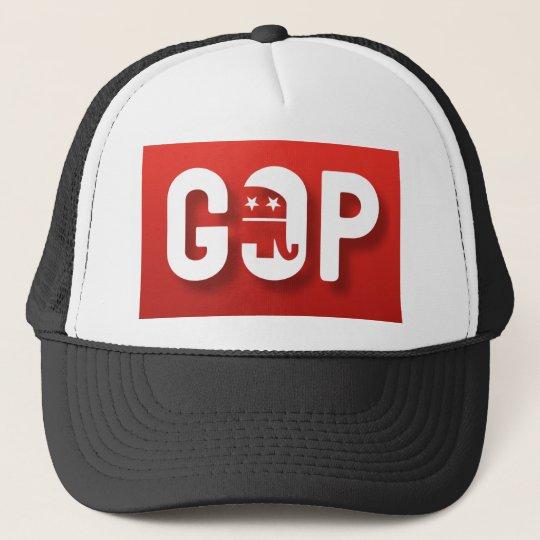Red Elephant GOP Trucker Hat
