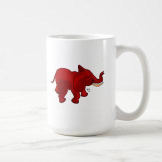 red elephant graphic on mug