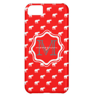 Red Elephant in polkadot Cover For iPhone 5C
