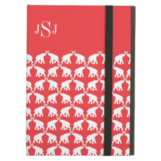 Red elephant iPad air cover