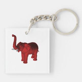 Red Elephant Keychain