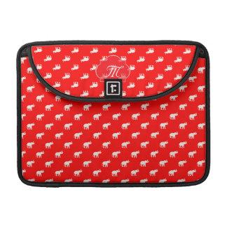 Red Elephant polkadot Sleeves For MacBooks