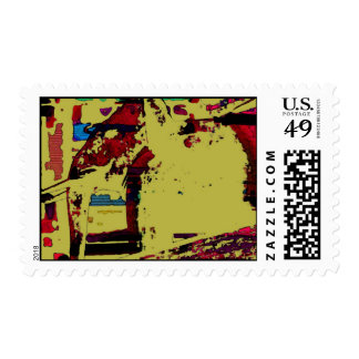 Red elephant postage stamp