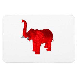Red Elephant Rectangular Photo Magnet