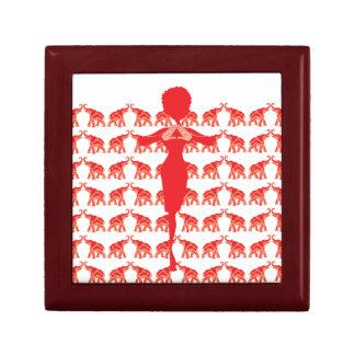Red elephant Sorority Life Jewelry Box