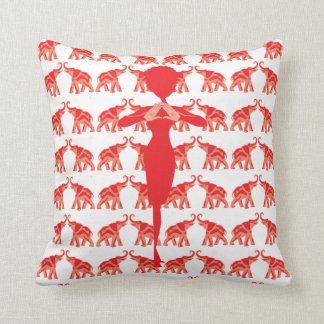 Red Elephant sorority pillow