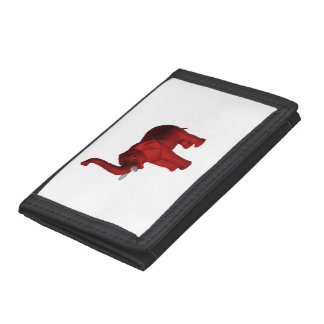 Red Elephant Tri-fold Wallet