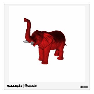 Red Elephant Wall Sticker