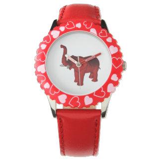 Red Elephant Wrist Watch
