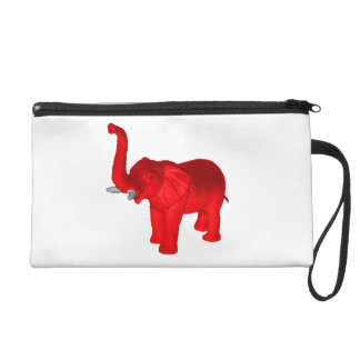 Red Elephant Wristlet