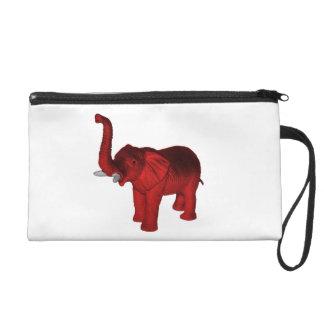 Red Elephant Wristlet Purse
