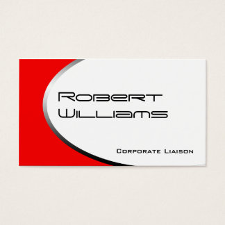 Red Ellipse Modern Professional Business Cards