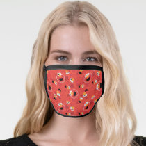 Red Elmo Faces Pattern Face Mask