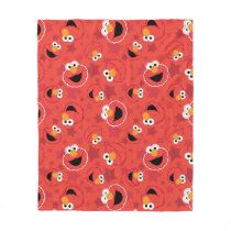 Red Elmo Faces Pattern Fleece Blanket