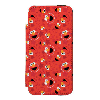 Red Elmo Faces Pattern Wallet Case For iPhone SE/5/5s