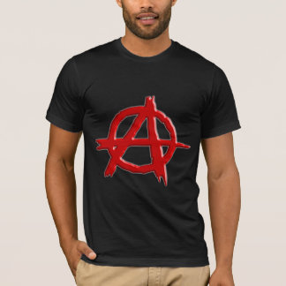 Red Embossed-look Anarchy Logo T-Shirt