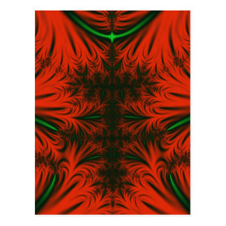 Red & Emerald Ice Crystals Postcard