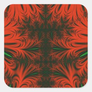 Red & Emerald Ice Crystals Sticker