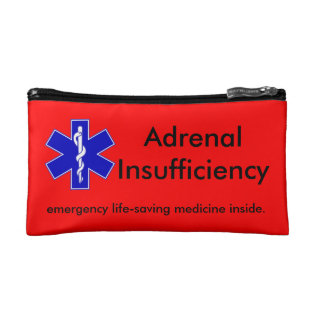 Red Emergency Kit Case: Life-saving Steroids Makeup Bag at Zazzle