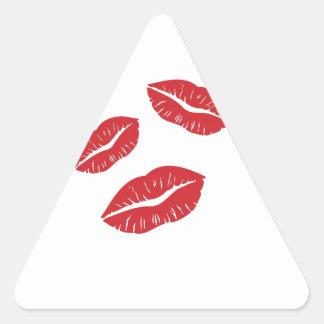 RED EMO GREY LIPS KISSES LIPSTICK THREE LOVE FLIRT STICKERS