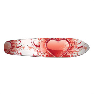 Red Emo Heart Skateboard