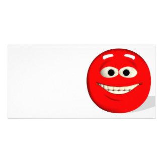 Red Emoticon Card