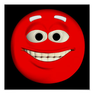 Red Emoticon Poster