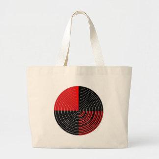 Red Energy Chakra - Silver n Black Streaks Canvas Bag