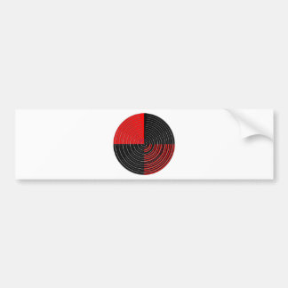 Red Energy Chakra - Silver n Black Streaks Bumper Sticker
