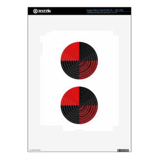 Red Energy Chakra - Silver n Black Streaks iPad 3 Decals