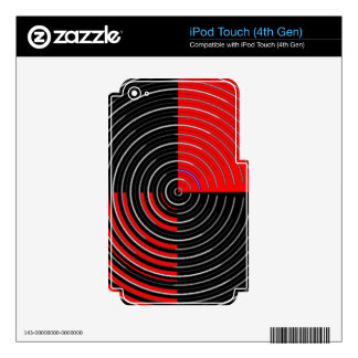 Red Energy Chakra - Silver n Black Streaks iPod Touch 4G Skin