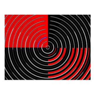 Red Energy Chakra - Silver n Black Streaks Postcard