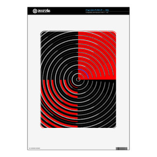 Red Energy Chakra - Silver n Black Streaks Skins For The iPad
