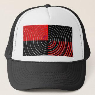 Red Energy Chakra - Silver n Black Streaks Trucker Hat