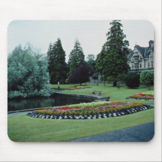 Red English country garden, England flowers Mouse Pad
