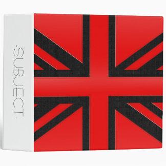 Red English Flag Binder