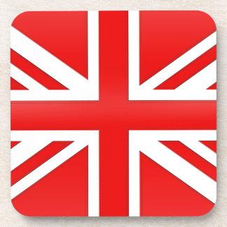 Red English Flag Coaster