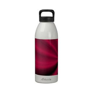 Red Enigma Unfolding Cloth Look Reusable Water Bottle