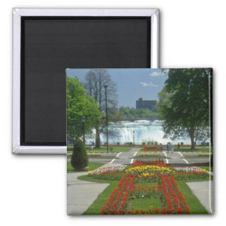 Red Entrance to the Falls, Niagara Falls flowers 2 Inch Square Magnet