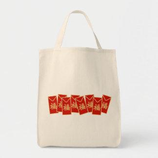 Red Envelope Motif Tote Bag