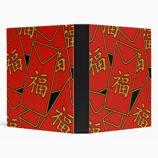 Red Envelopes 3 Ring Binder