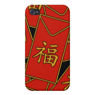 Red Envelopes Cover For iPhone 4