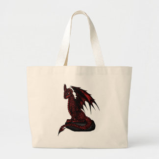 red epic Dragon Large Tote Bag