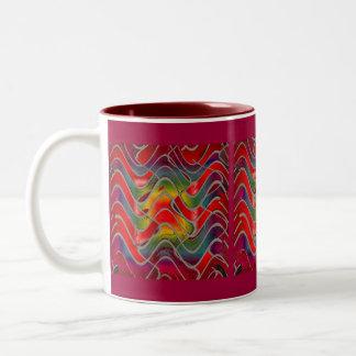 red epiphany Two-Tone coffee mug