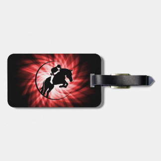 Red Equestrian Travel Bag Tags