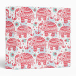 Red Ethnic Elephant Pattern Binders