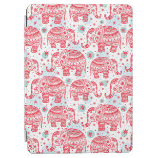 Red Ethnic Elephant Pattern iPad Air Cover