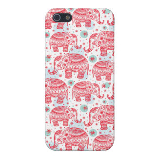 Red Ethnic Elephant Pattern iPhone 5/5S Case