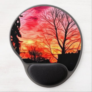 red evening gel mousepad